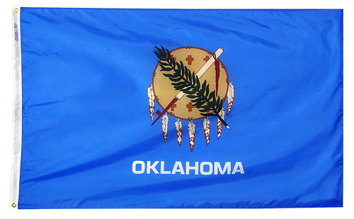 Oklahoma - State Flag (finished with heading and grommets)