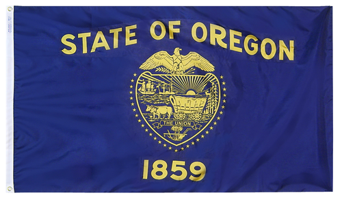 Oregon - State Flag (finished with heading and grommets)