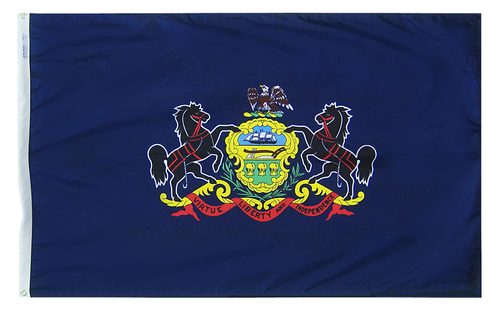 Pennsylvania - State Flag (finished with heading and grommets)