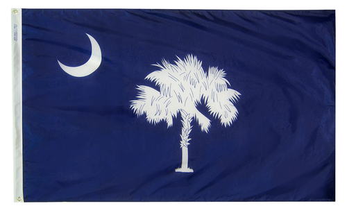 South Carolina - State Flag (finished with heading and grommets)