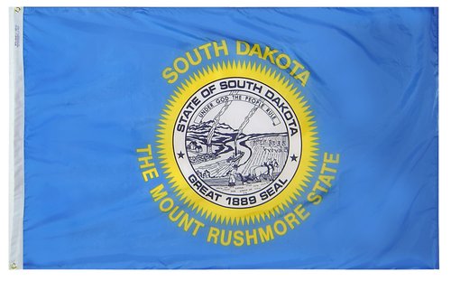 South Dakota - State Flag (finished with heading and grommets)