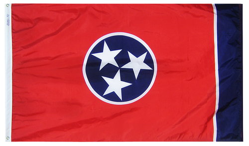 Tennessee - State Flag (finished with heading and grommets)