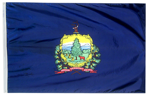 Vermont - State Flag (finished with heading and grommets)