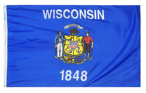 Wisconsin - State Flag - For Outdoor Use