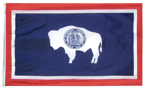 Wyoming - State Flag - For Outdoor Use