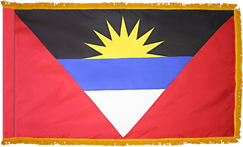Antigua and Barbuda Flag with Fringe - For Indoor & Ceremonial Use