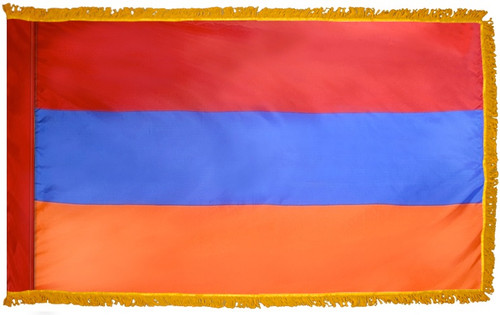 Armenia Flag with Fringe - For Indoor & Ceremonial Use