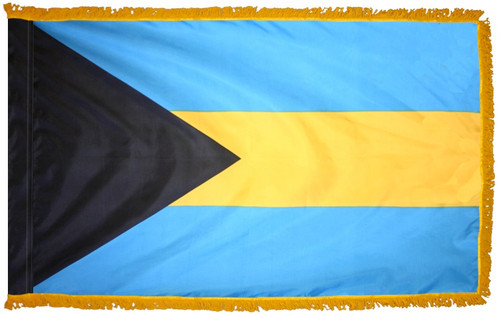 Bahamas Flag with Fringe - For Indoor & Ceremonial Use