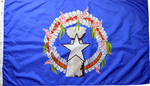 Northern Marianas - Territory Flag (finished with heading and grommets)