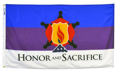 """Honor and Sacrifice"" Flag - 3'x5' - For Outdoor Use"