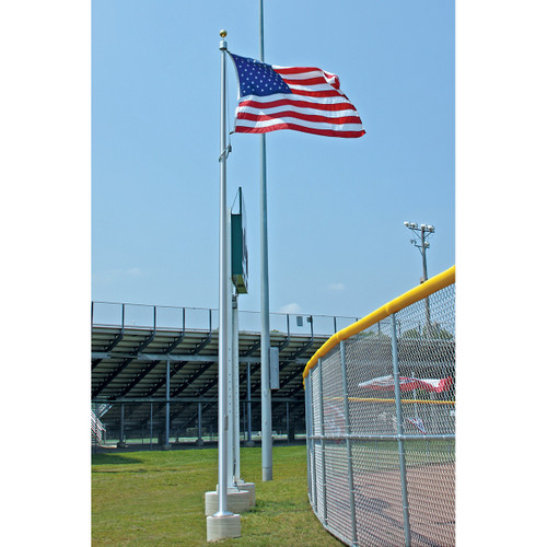 Vanguard Aluminum Flagpole - Internal Halyard with Cam Cleat