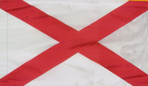 Alabama - State Flag with Pole Sleeve - For Indoor Use