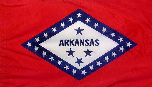 Arkansas - State Flag with Pole Sleeve - For Indoor Use