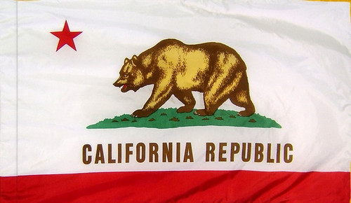 California - State Flag with Pole Sleeve - For Indoor Use