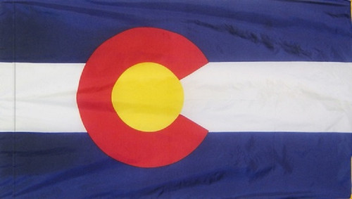 Colorado - State Flag with Pole Sleeve - For Indoor Use