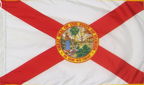 Florida - State Flag with Pole Sleeve - For Indoor Use