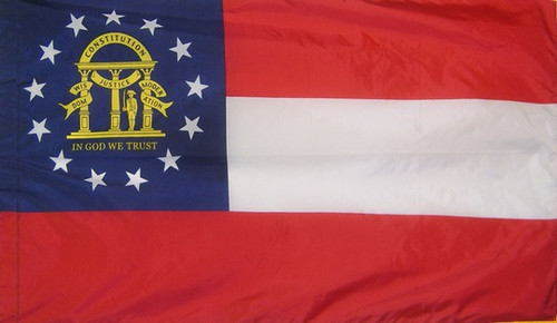Georgia - State Flag with Pole Sleeve - For Indoor Use