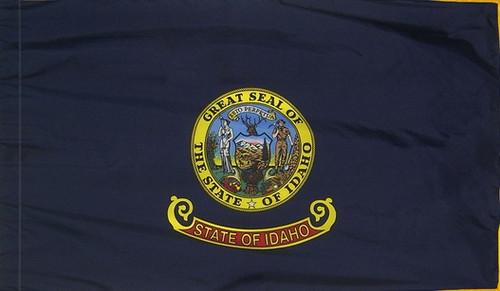 Idaho - State Flag with Pole Sleeve - For Indoor Use