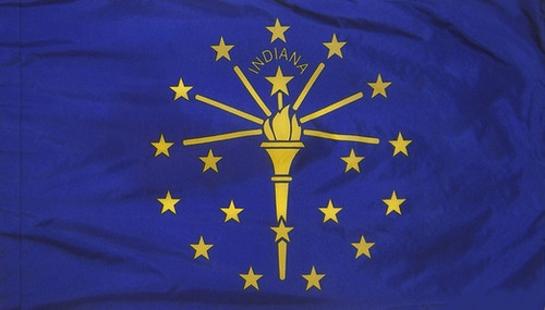 Indiana - State Flag with Pole Sleeve - For Indoor Use