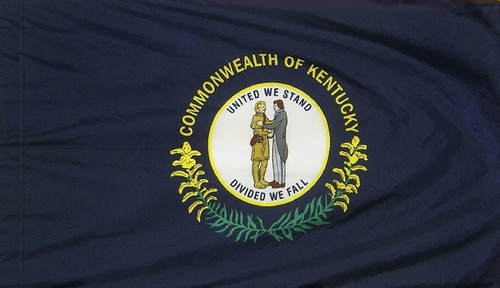 Kentucky - State Flag with Pole Sleeve - For Indoor Use
