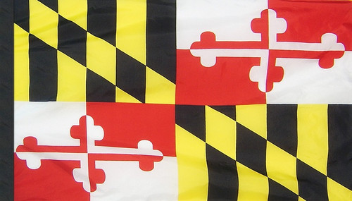 Maryland - State Flag with Pole Sleeve - For Indoor Use