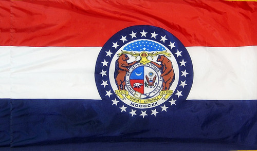 Missouri - State Flag with Pole Sleeve - For Indoor Use