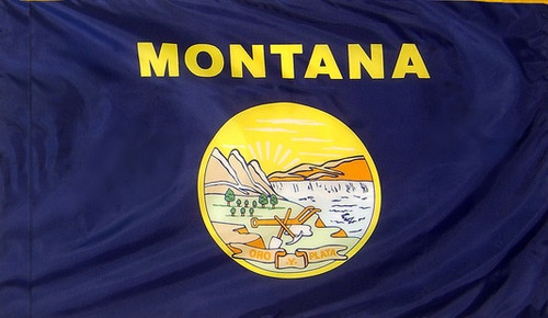 Montana - State Flag with Pole Sleeve - For Indoor Use