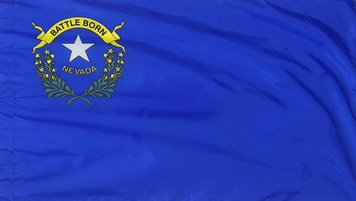 Nevada - State Flag with Pole Sleeve - For Indoor Use