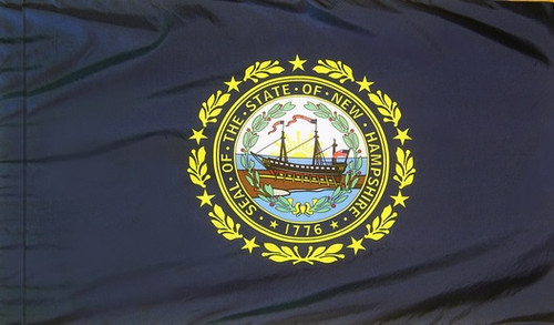 New Hampshire - State Flag with Pole Sleeve - For Indoor Use