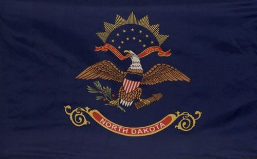 North Dakota - State Flag with Pole Sleeve - For Indoor Use