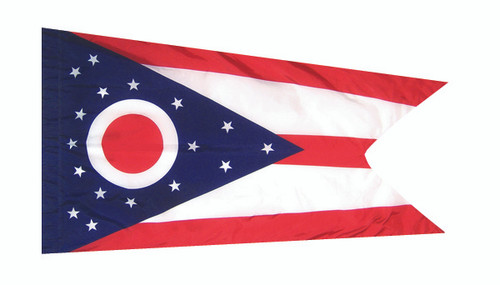 Ohio - State Flag with Pole Sleeve - For Indoor Use