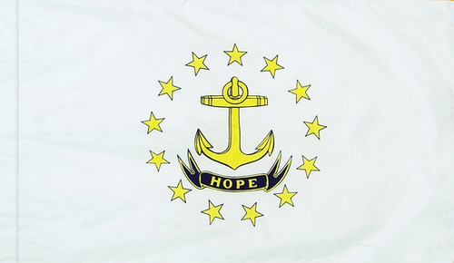 Rhode Island - State Flag with Pole Sleeve - For Indoor Use