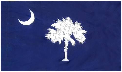 South Carolina - State Flag with Pole Sleeve - For Indoor Use