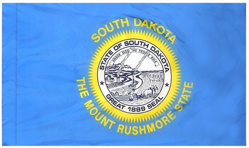 South Dakota - State Flag with Pole Sleeve - For Indoor Use