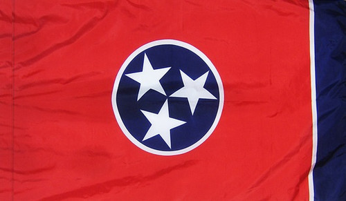 Tennessee - State Flag with Pole Sleeve - For Indoor Use