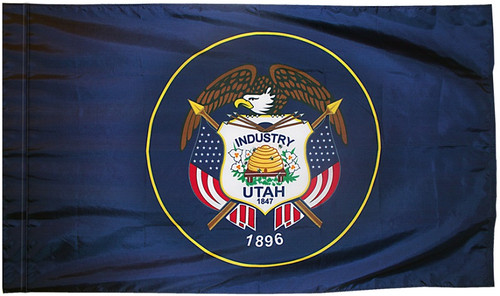 Utah - State Flag with Pole Sleeve - For Indoor Use