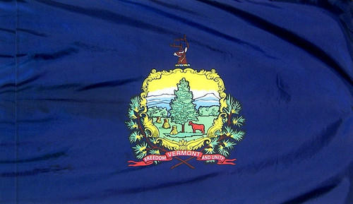 Vermont - State Flag with Pole Sleeve - For Indoor Use