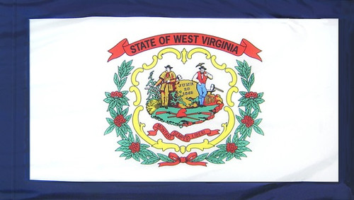 West Virginia - State Flag with Pole Sleeve - For Indoor Use