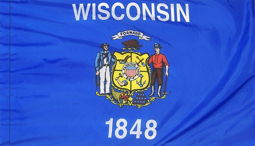 Wisconsin - State Flag - Pole Sleeve Style