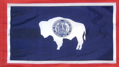 Wyoming - State Flag - Pole Sleeve Style
