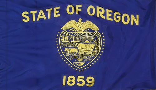 Oregon - State Flag with Pole Sleeve - For Indoor Use