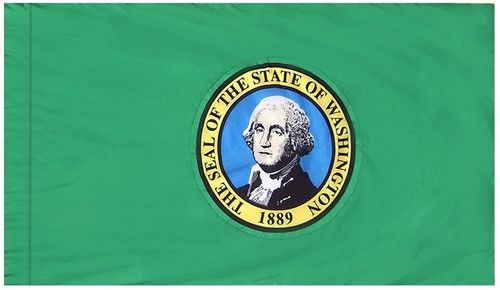 Washington - State Flag with Pole Sleeve - For Indoor Use