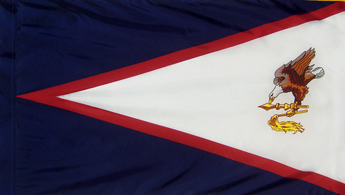 American Samoa - Territory Flag with Pole Sleeve - For Indoor Use