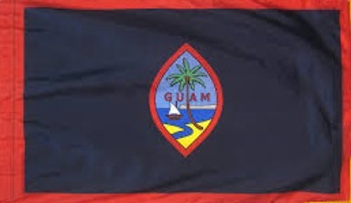 Guam - Territory Flag with Pole Sleeve - For Indoor Use