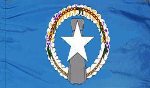 Northern Marianas - Territory Flag with Pole Sleeve - For Indoor Use