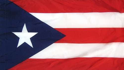 Puerto Rico - Territory Flag with Pole Sleeve - For Indoor Use