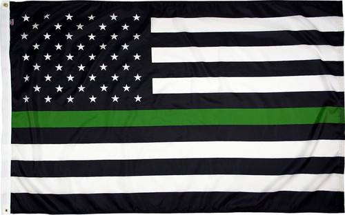 Thin Green Line American Flag