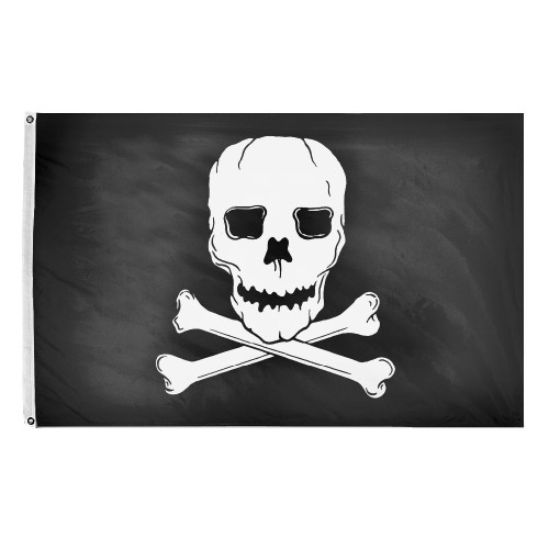 Jolly Roger Flag - 3'x5' - For Outdoor Use