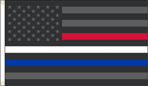 Thin Red White Blue American Flag. In support of Police, EMS and Firefighters