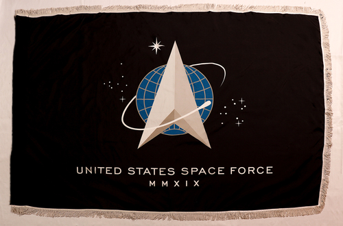 Space Force Flag with Fringe